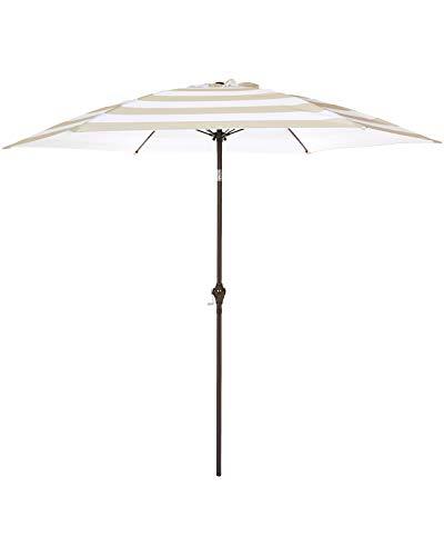Most Recent Shropshire Market Umbrellas For White Patio Umbrella: Amazon (View 6 of 25)