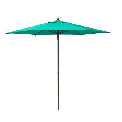 Most Recent Solid – Blue – Market Umbrellas – Patio Umbrellas – The Home Depot Within Solid Market Umbrellas (View 3 of 25)