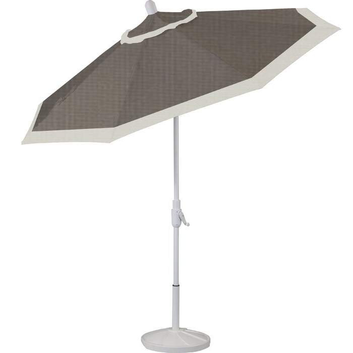 Most Recent Wiebe 9' Market Sunbrella Umbrella Inside Wiebe Market Sunbrella Umbrellas (View 19 of 25)