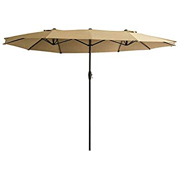 Most Recently Released Amazon : Best Choice Products 15X9Ft Large Rectangular Outdoor With Zadie Twin Rectangular Market Umbrellas (View 13 of 25)