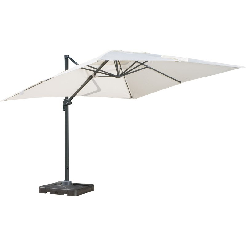 Most Recently Released Anna Cantilever Umbrellas With Regard To Boracay 10' Square Cantilever Umbrella (View 16 of 25)