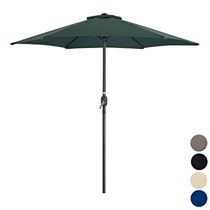 Most Recently Released Christow Garden Parasol Umbrella Steel Crank Wind Up Outdoor Sun Shade  (View 15 of 25)