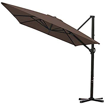 Most Recently Released Farnham Cantilever Umbrellas Within Amazon : Abba Patio 11 Ft Offset Patio Umbrella With Crank Lift (View 13 of 25)