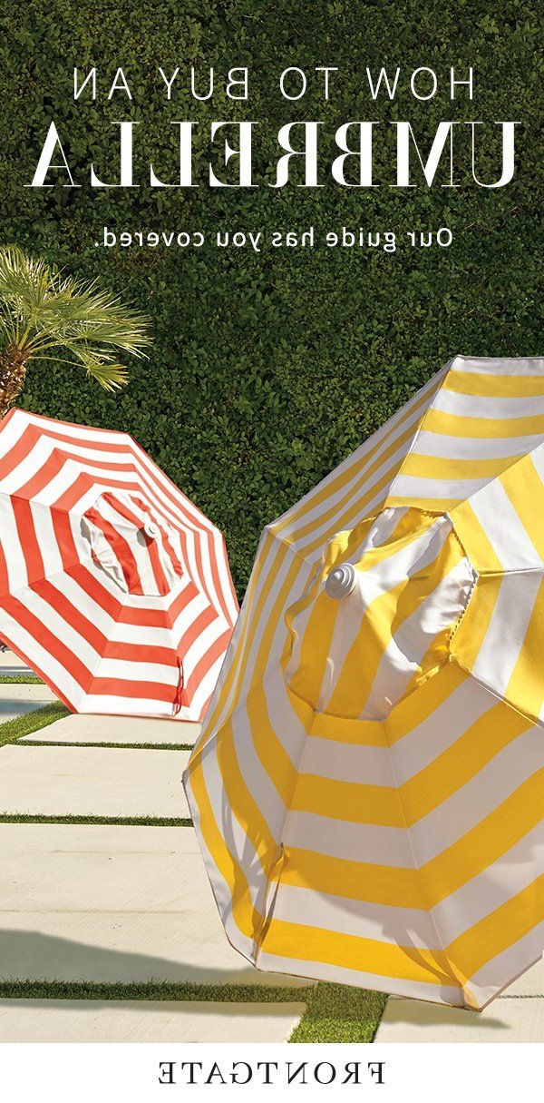 Most Recently Released From Market Umbrellas To Specialty Shades, Frontgate's Comprehensive With Regard To Docia Market Umbrellas (View 14 of 25)