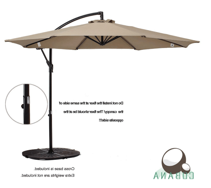 Most Recently Released Imogen Hanging Offset Cantilever Umbrellas Regarding Cobana 10 Ft Patio Umbrella Offset Hanging Umbrella Outdoor Market (View 7 of 25)
