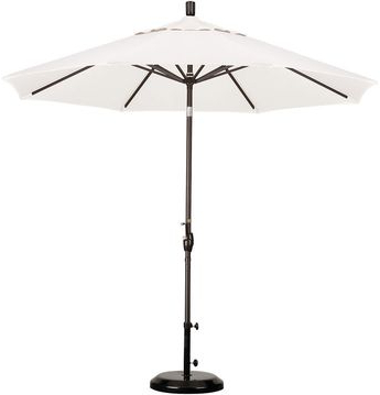Most Recently Released One Kings Lane 9' Market Umbrella, Bronze/white With Caravelle Market Umbrellas (View 16 of 25)