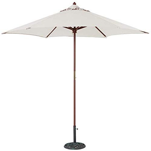 Most Recently Released Shropshire Market Umbrellas In White Patio Umbrella: Amazon (View 5 of 25)