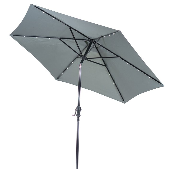 Most Recently Released Sun Ray Solar Cantilever Umbrellas In Sun Ray Solar Round 9' Market Umbrella (View 21 of 25)