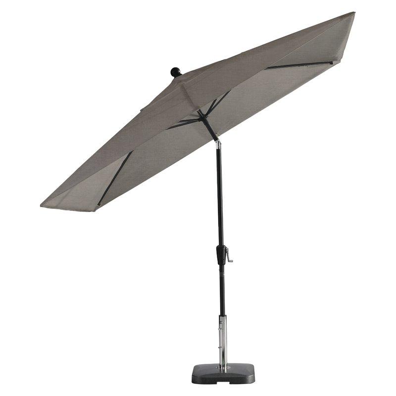 Most Recently Released Wiechmann Push Tilt Market Sunbrella Umbrellas Within Wiechmann Push Tilt 9' X 7' Rectangular Market Sunbrella Umbrella (View 12 of 25)