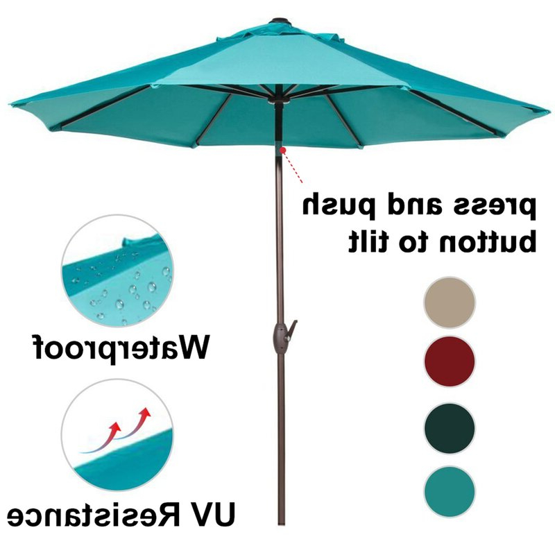 Most Recently Released Winchester 9' Market Umbrella Intended For Winchester Zipcode Design Market Umbrellas (View 17 of 25)