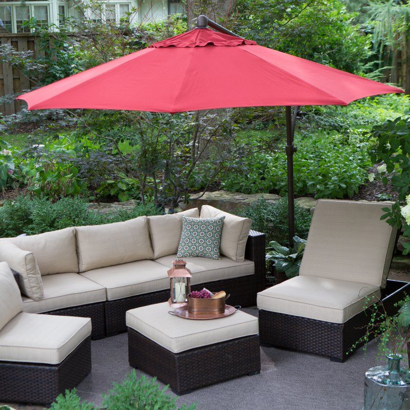 Most Recently Released Windell Square Cantilever Umbrellas Within Treasure Garden 10 Ft (View 25 of 25)
