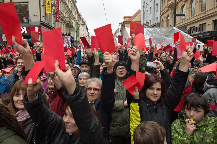 Most Up To Date Celebration Becomes Protest Against Czech President – Wsj Throughout Zeman Market Umbrellas (View 7 of 25)