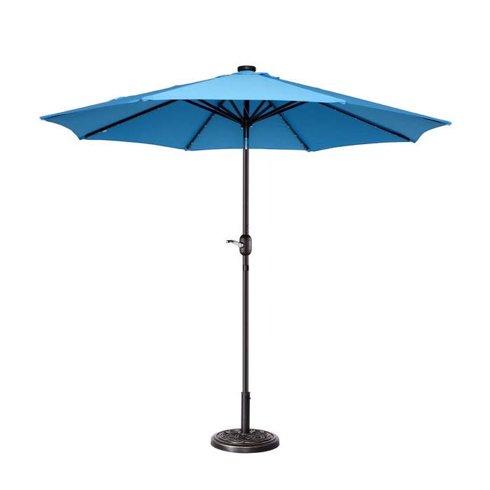 Most Up To Date Coggeshall Led Lighted 9' Market Umbrella With Regard To Brecht Lighted Umbrellas (View 10 of 25)