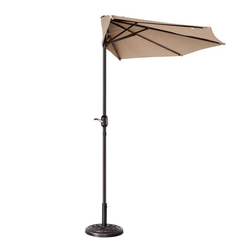 Most Up To Date Colburn Half 9' Market Umbrella In Colburn Half Market Umbrellas (View 3 of 25)