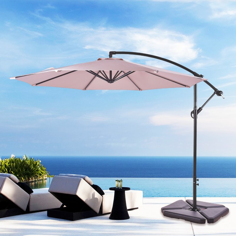 Most Up To Date Karr 10' Cantilever Umbrella Inside Irven Cantilever Umbrellas (View 17 of 25)