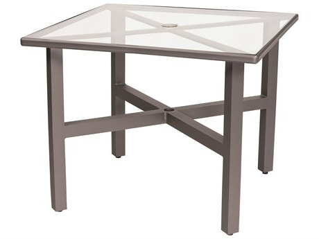 Most Up To Date Lonoke Patio Rectangular Market Umbrellas For Woodard Aluminum 24 X 19 Rectangular Obscure Glass Top End Table (View 23 of 25)