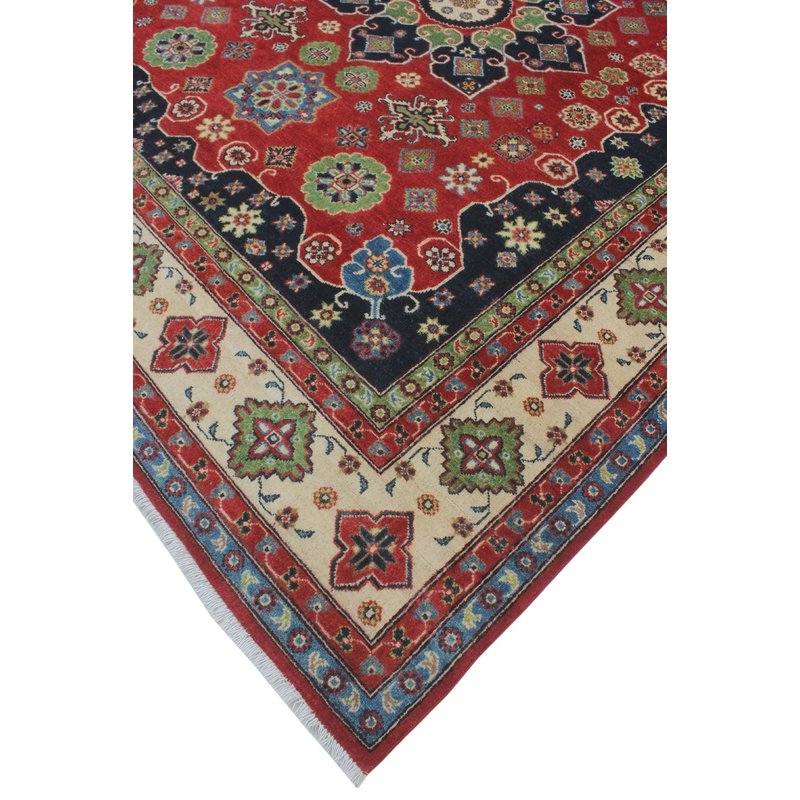 Most Up To Date One Of A Kind Brubaker Kazak Hand Knotted Wool Red Area Rug For Brubaker Market Umbrellas (View 9 of 25)