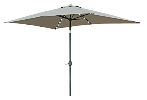 Most Up To Date Solar Powered Led Patio Umbrellas Intended For Trademark Innovations Rectangular Solar Powered Led Lighted Patio Umbrellas (View 20 of 25)