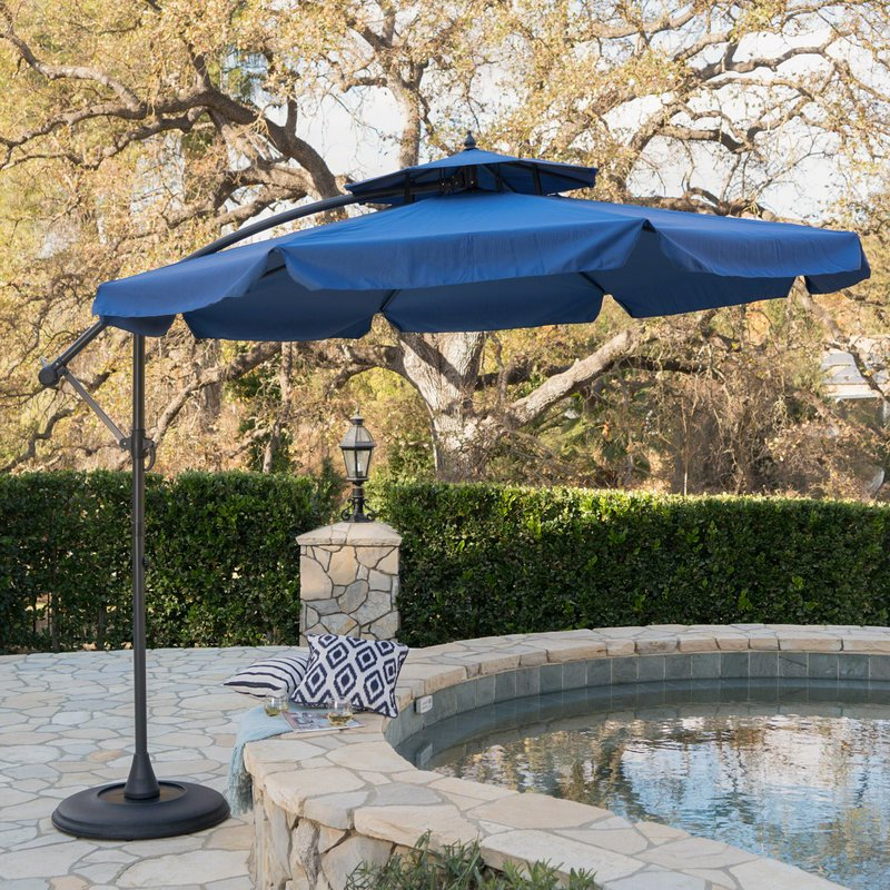 Most Up To Date Tallulah Sunshade Hanging Outdoor Cantilever Umbrellas Throughout Simplot Outdoor Sunshade  (View 25 of 25)