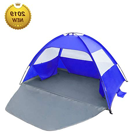 Most Up To Date Venustas Beach Tent Beach Umbrella Outdoor Sun Shelter Canopy Cabana Upf  50+ Sun Shade Easy Set Up 3 4 Person, Lightweight And Easy To Carry With Regard To Sun Shelter Beach Umbrellas (View 15 of 25)