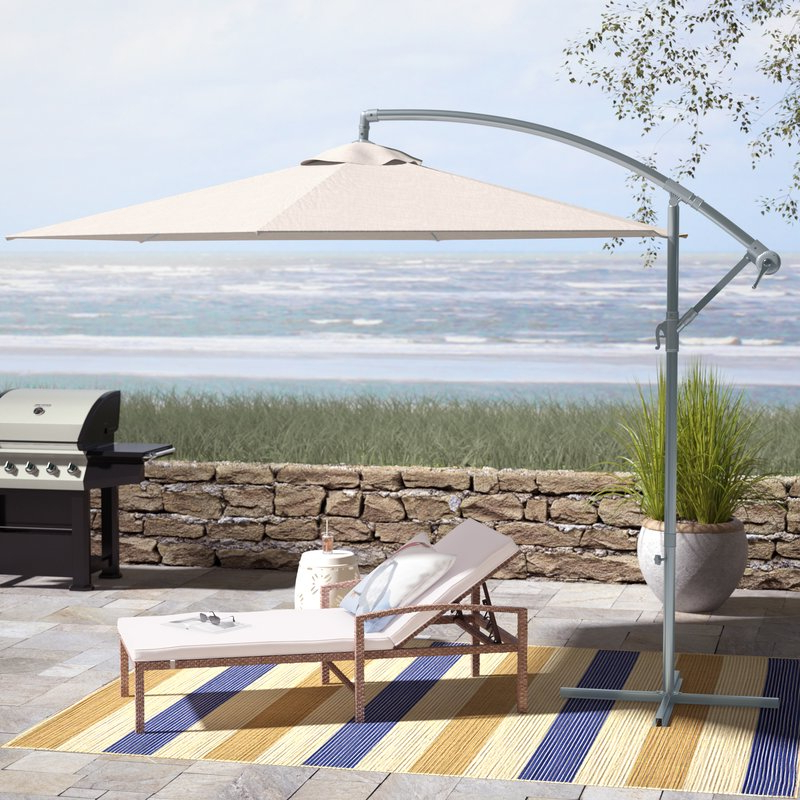 Muhammad Fullerton 10' Cantilever Umbrella For Well Liked Tallulah Sunshade Hanging Outdoor Cantilever Umbrellas (View 14 of 25)