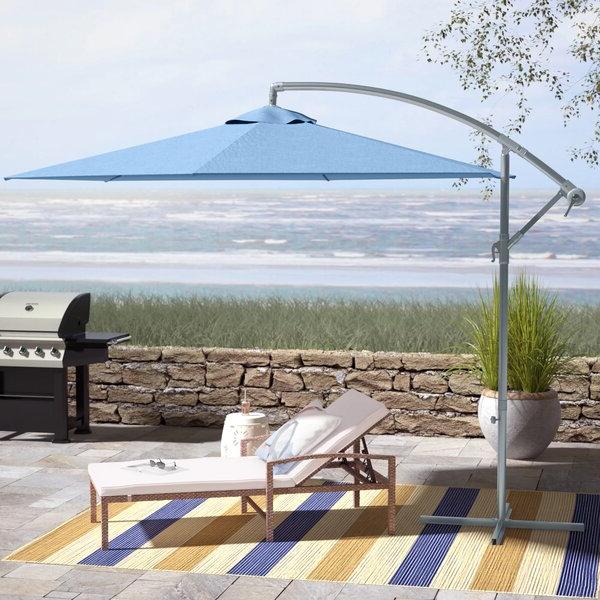 Muhammad Fullerton 10' Cantilever Umbrella In Best And Newest Trotman Cantilever Umbrellas (View 9 of 25)
