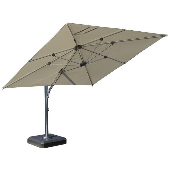Nasiba Square Cantilever Sunbrella Umbrellas Inside Fashionable 10'x12' Rectangular Cantilever Umbrella (View 17 of 25)