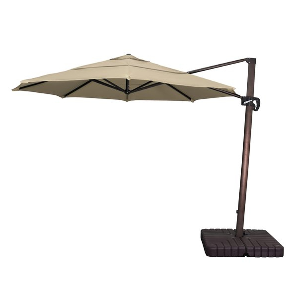 Nasiba Square Cantilever Sunbrella Umbrellas inside Most Current Phat Tommy 9' Cantilever Umbrella