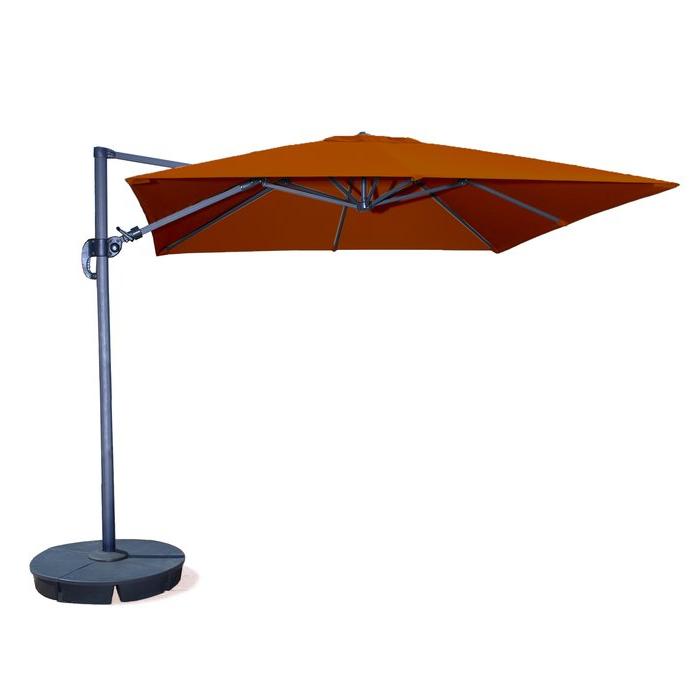 Nasiba Square Cantilever Sunbrella Umbrellas inside Trendy Nasiba 9.7' Square Cantilever Sunbrella Umbrella
