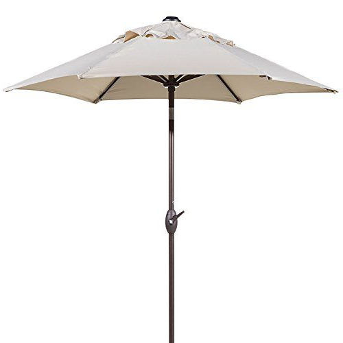 Newest Abba Patio 712 Ft Round Outdoor Market Patio Umbrella With Push throughout Irven Cantilever Umbrellas