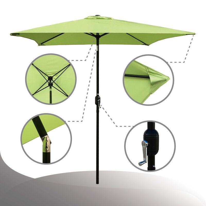 Newest Bradford Patio 6.5' Square Market Umbrella for Bradford Rectangular Market Umbrellas
