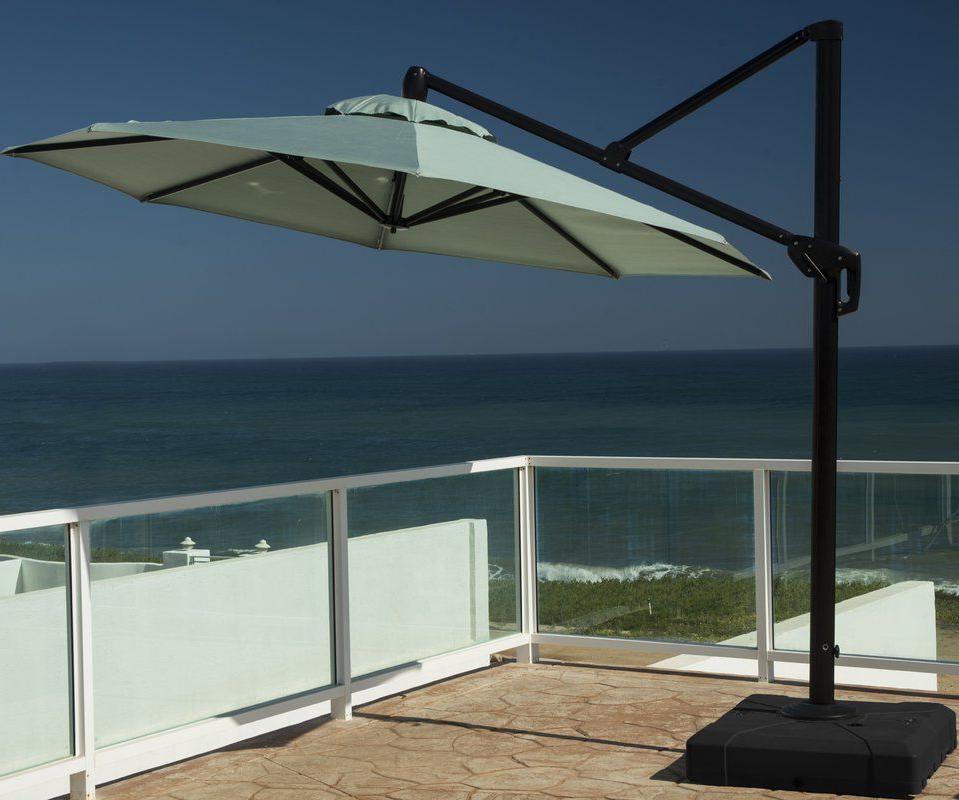 Newest Ceylon 10' Cantilever Sunbrella Umbrella In  (View 20 of 25)