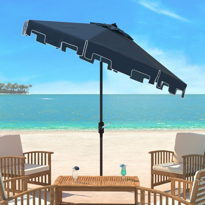 Newest Crediton 9' Market Umbrella with Woll Lighted Market Umbrellas