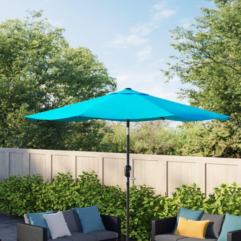 Newest Delaplaine Market Umbrellas Regarding Delaplaine 9' Market Umbrella (View 23 of 25)
