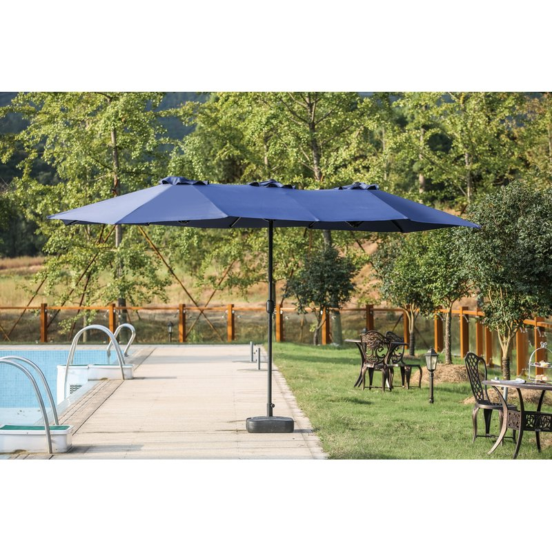 Newest Eisele 9' W X 15' D Rectangular Market Umbrella Throughout Eisele Rectangular Market Umbrellas (View 1 of 25)