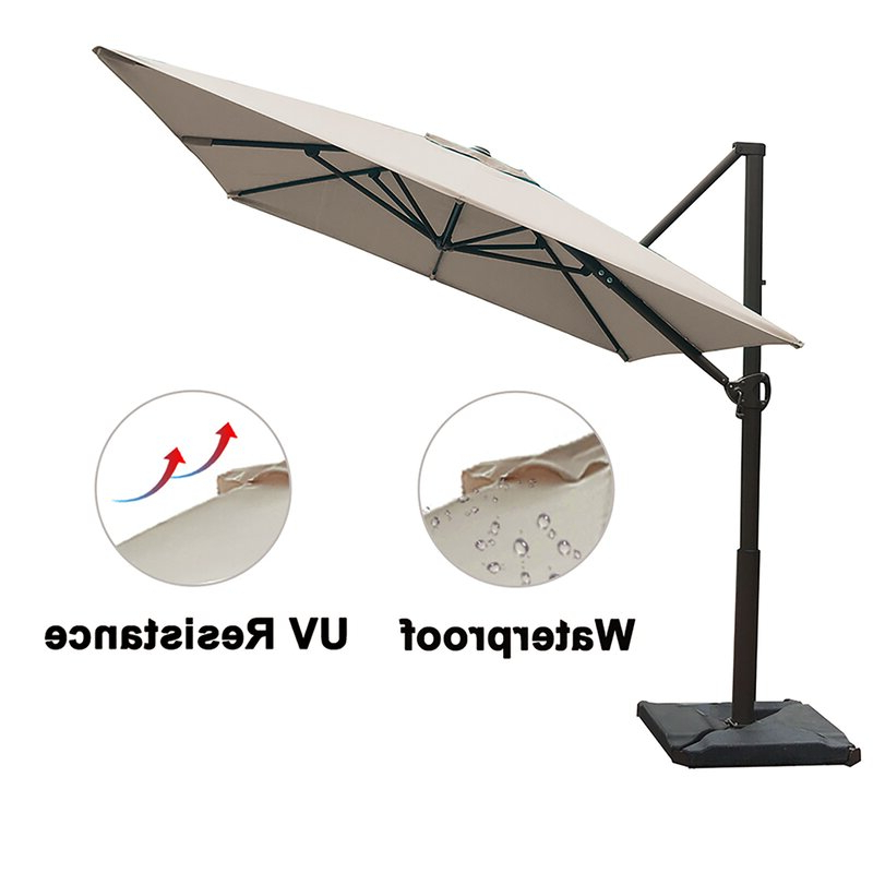 Newest Fordwich  Rectangular Cantilever Umbrellas Pertaining To Fordwich 8' X 10' Rectangular Cantilever Umbrella (View 8 of 25)