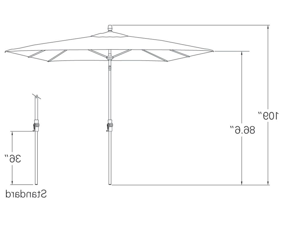 Newest Fordwich  Rectangular Cantilever Umbrellas Throughout 8' X 10' Rectangular Auto Tilt Umbrella Um8810Rt Swv (View 17 of 25)