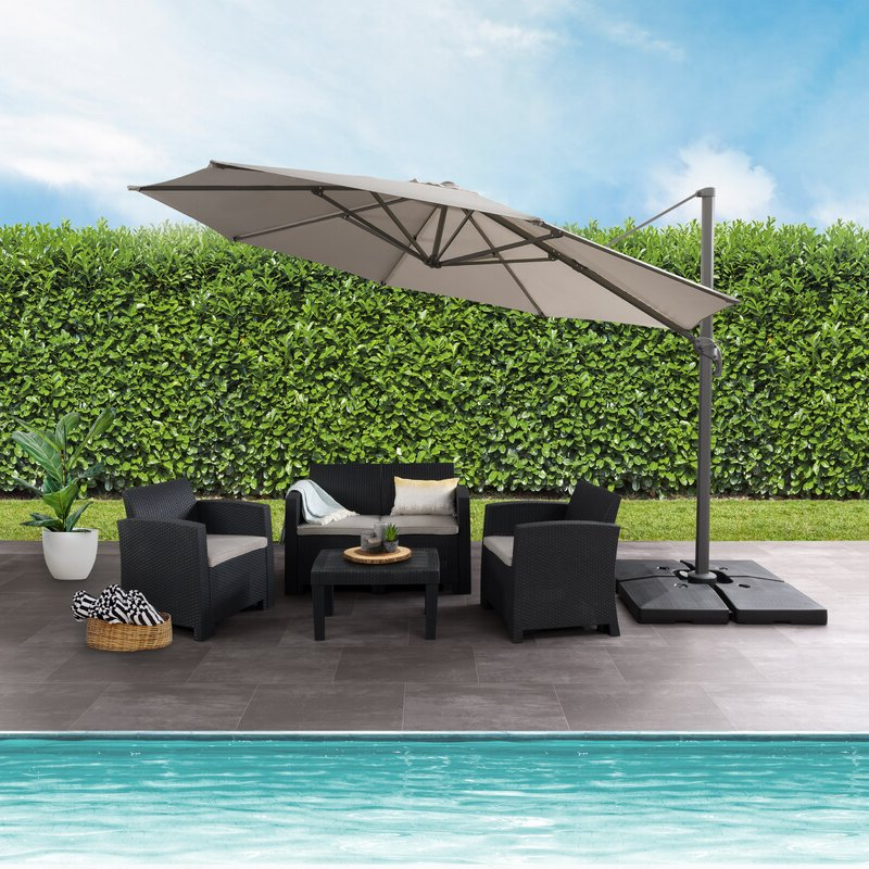 Newest Gribble 11.3' Cantilever Umbrella intended for Gribble Cantilever Umbrellas