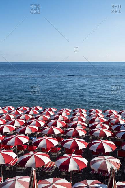 Newest Italian Beach Umbrellas regarding Italian Beach Umbrellas Stock Photos - Offset