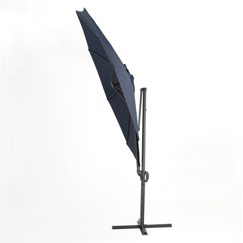 Newest Jaelynn Cantilever Umbrellas pertaining to Jaelynn 9.5' Cantilever Umbrella