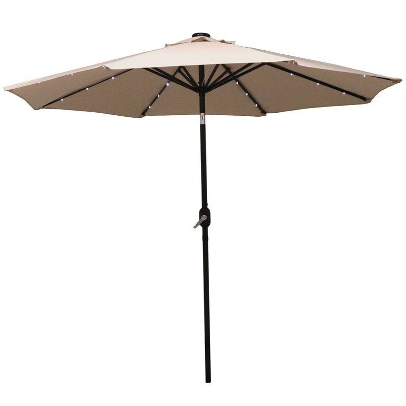 Newest Jericho 9' Market Umbrella Intended For Kenn Market Umbrellas (View 18 of 25)