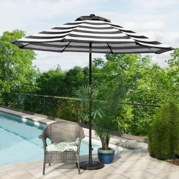 Newest Julian Market Umbrellas Within Belleze 9 Ft Steel Outdoor Patio Umbrella With Tilt Crank, 8 Steel (View 21 of 25)
