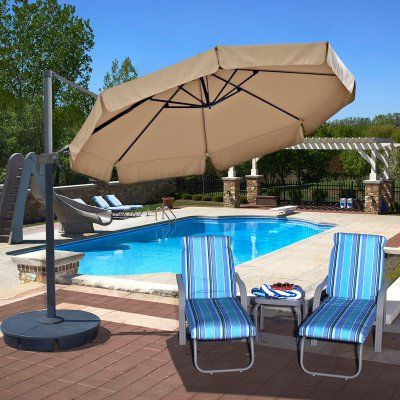 Newest Lennie Cantilever Sunbrella Umbrellas Regarding Island Umbrella Freeport 11 Ft (View 14 of 25)