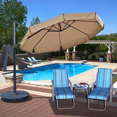 Newest Lennie Cantilever Sunbrella Umbrellas regarding Island Umbrella Freeport 11 Ft. Octagonal Cantilever With Valance