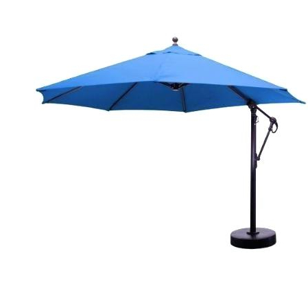 Newest Mullaney Market Sunbrella Umbrellas Within 11 Market Umbrella Ft Cantilever Aluminum Outdoor Furniture Costco (View 17 of 25)