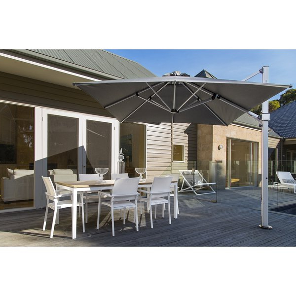Newest Nasiba Square Cantilever Sunbrella Umbrellas inside Aurora 9' Square Cantilever Umbrella