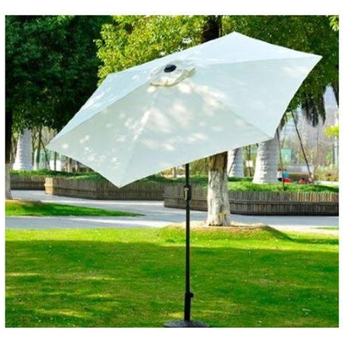 Newest Norah Rectangular Market Umbrellas For Outsunny 9' Outdoor Aluminum Patio Market Umbrella W/ Tilt – Cream (View 12 of 25)