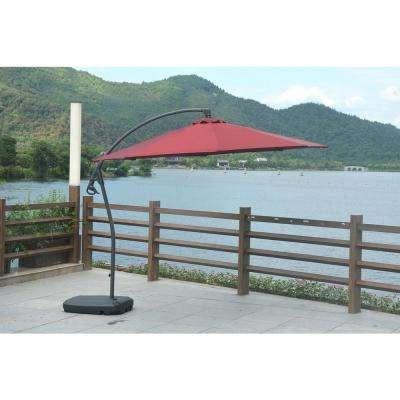 Newest Red – Cantilever Umbrellas – Patio Umbrellas – The Home Depot Within Pau Rectangular Market Umbrellas (View 11 of 25)