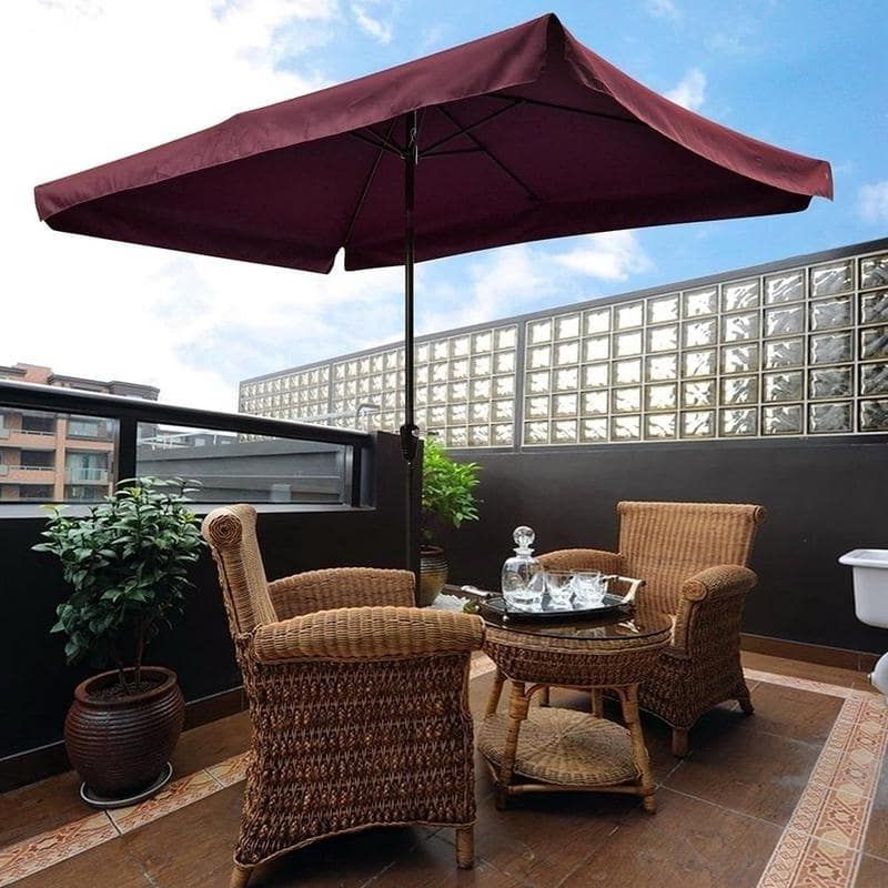 Newest Solid Rectangular Market Umbrellas With 10'x (View 18 of 25)