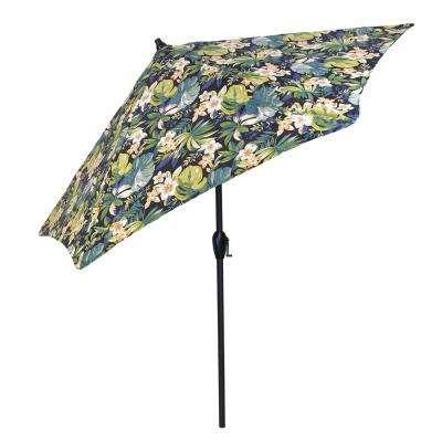 Newest Tropical Patio Umbrellas inside Plantation Patterns - Free Shipping - Polyester - Market Umbrellas